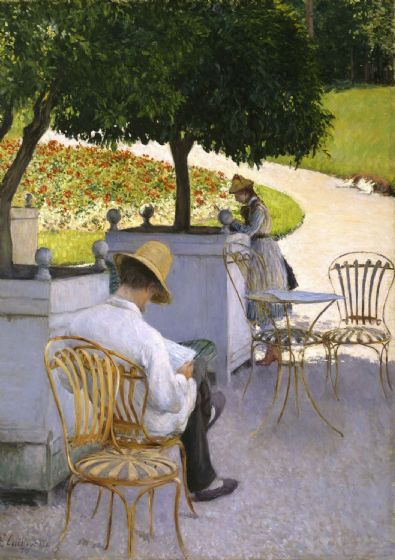 Caillebotte, Gustave: The Orange Trees. Fine Art Print/Poster (4923)